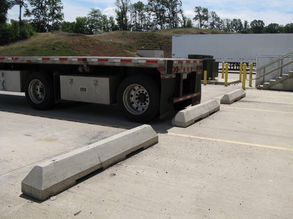 tractor trailer wheel stop installation contracotr